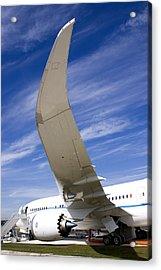 Boeing 787 Dreamliner At Farnborough Acrylic Print by Mark Williamson