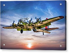 Boeing B17g Flying Fortress Yankee Lady Acrylic Print by Chris Lord