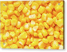 Boiled Corn Seeds Acrylic Print by Vadim Goodwill