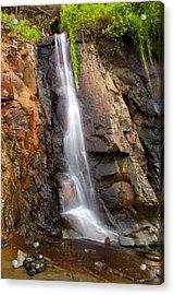 Boiler Bay Cascade Acrylic Print by Mike  Dawson