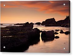 Boiler Bay Sunset Acrylic Print by Mike  Dawson