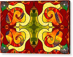 Boldly Experiencing Consciousness Abstract Art By Omashte Acrylic Print by Omaste Witkowski