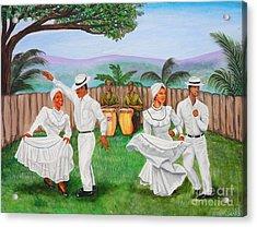 Bomba Dance Acrylic Print by Juan Gonzalez