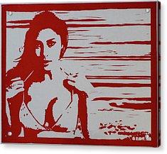 Bonita Linda, Red Acrylic Print by Erik Paul
