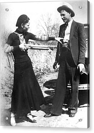 Bonnie And Clyde, 1933 Acrylic Print by Granger
