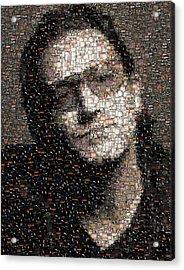 Bono U2 Albums Mosaic Acrylic Print by Paul Van Scott
