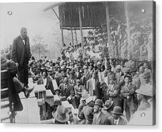 Booker T. Washington Addressing Acrylic Print by Everett