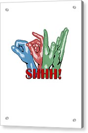 Boom Snap Clap Shhh Acrylic Print by Lee Brown