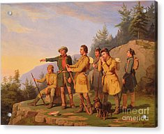Boone's First View Of Kentucky Acrylic Print by William Tylee Ranney