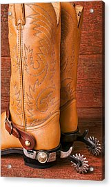 Boots With Spurs Acrylic Print by Garry Gay
