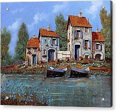 Borgo Viola Acrylic Print by Guido Borelli