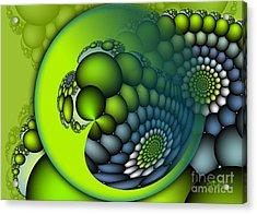 Born To Be Green Acrylic Print by Jutta Maria Pusl