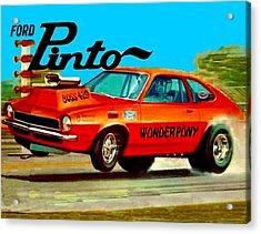 Boss Ford Pinto Wonder Pony Acrylic Print by Paul Van Scott