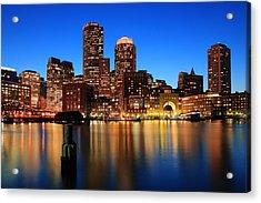 Boston Aglow Acrylic Print by Rick Berk