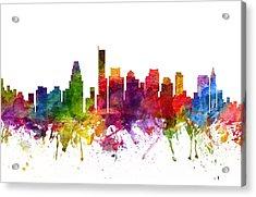 Boston Cityscape 06 Acrylic Print by Aged Pixel