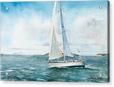 Boston Harbor Islands Acrylic Print by Laura Lee Zanghetti