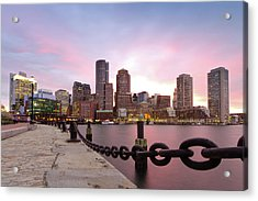Boston Harbor Acrylic Print by Photo by Jim Boud
