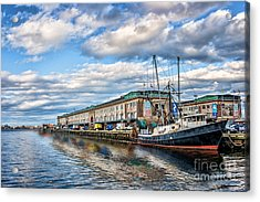 Boston Harbor Acrylic Print by Tamyra Ayles