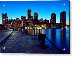 Boston Harbor Walk Acrylic Print by Rick Berk