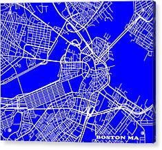 Boston Massachusetts City Map Streets Art Print   Acrylic Print by Keith Webber Jr