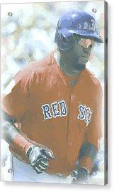 Boston Red Sox David Ortiz 2 Acrylic Print by Joe Hamilton