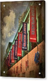Boston Red Sox Retired Numbers - Fenway Park Acrylic Print by Joann Vitali