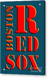 Boston Red Sox Sign Acrylic Print by Pablo Franchi
