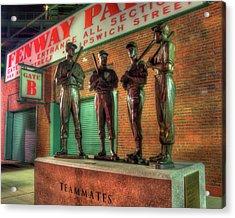 Boston Red Sox Teammates Statue - Fenway Park Acrylic Print by Joann Vitali