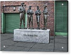 Boston Red Sox Teammates Acrylic Print by Susan Candelario
