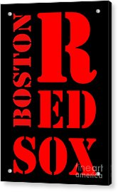 Boston Red Sox Typography Acrylic Print by Pablo Franchi