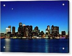 Boston Skyline Acrylic Print by By Eric Lorentzen-Newberg
