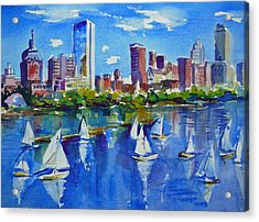 Boston Skyline Acrylic Print by Diane Bell