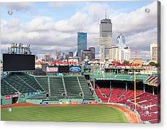 Boston Skyline From Fenway Park Acrylic Print by Dawna  Moore Photography