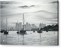 Boston Skyline  Acrylic Print by Matthew Martelli