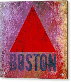 Boston Triangle Acrylic Print by Brandi Fitzgerald