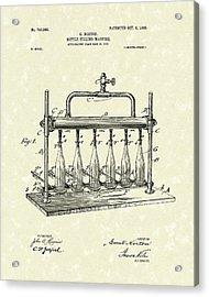 Bottle Filling Machine 1903 Patent Art Acrylic Print by Prior Art Design