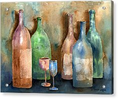Bottles Acrylic Print by Arline Wagner