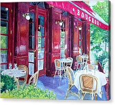 Bouchon Restaurant Outside Dining Acrylic Print by Gail Chandler