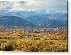 Boulder Colorado Autumn Scenic View Acrylic Print by James BO  Insogna