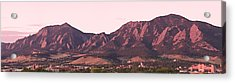 Boulder Colorado Flatirons 1st Light Panorama Acrylic Print by James BO  Insogna