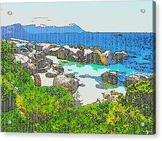 Boulders Acrylic Print by Jan Hattingh