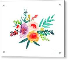 Bouquet Chic Acrylic Print by Rasirote Buakeeree