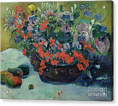 Bouquet Of Flowers Acrylic Print by Paul Gauguin