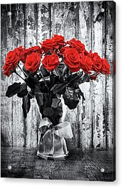 Bouquet Of Roses Acrylic Print by Wim Lanclus