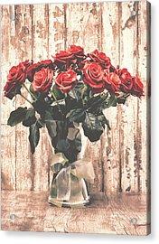 Bouquet Roses Acrylic Print by Wim Lanclus