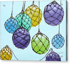 Bouy Balls Acrylic Print by Pauline Ross