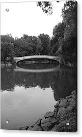 Bow Bridge And The Lake Acrylic Print by Christopher Kirby