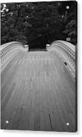 Bow Bridge And Trees Acrylic Print by Christopher Kirby