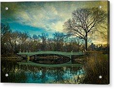 Bow Bridge Reflection Acrylic Print by Chris Lord