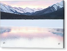 Bow Valley In Kananaskis Country Acrylic Print by Carol Cottrell